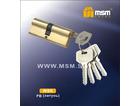 Цилиндровый механизм МСМ 90N латунь кл/кл (12/72)