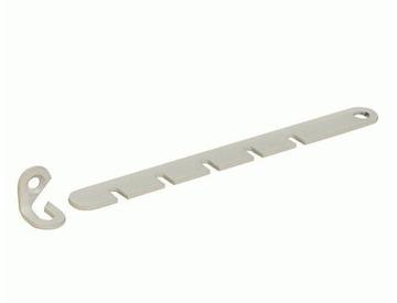 Ограничитель оконный металл белый для деревянных окон