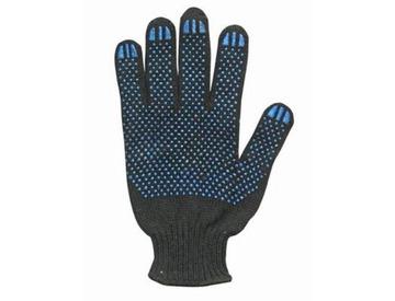 Перчатки х/б с ПВХ 5-ти нитка черные