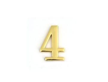 Цифра дверная Apecs DN-01-4-Z-G самоклей