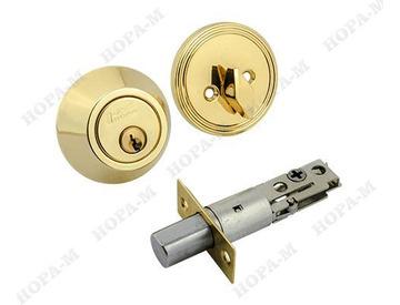 Замок-задвижка Нора D1-G ключ/фиксатор золото