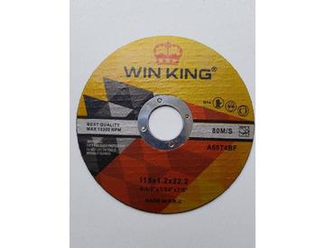 Круг отрезной 115х1х22  WIN KING п/металлу