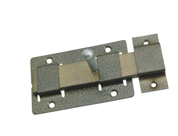 Засов дверной плоский ригель ЗД-02 бронза Металлист