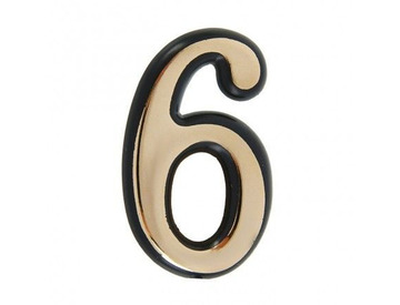 Цифра дверная 6-G