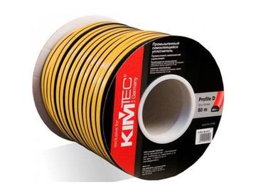 Уплотнитель профиль D (10*12)- 50-черный  KimTek промышленный