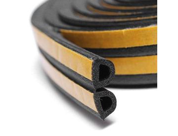 Уплотнитель профиль D (9*7,5)- 100-черный KimTek