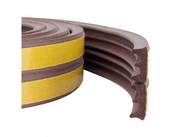 Уплотнитель профиль E (9*4)- 150-коричневый KimTek