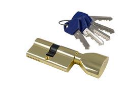 Цилиндры S-Locked Серия 300L английский ключ (материал латунь + zamak)